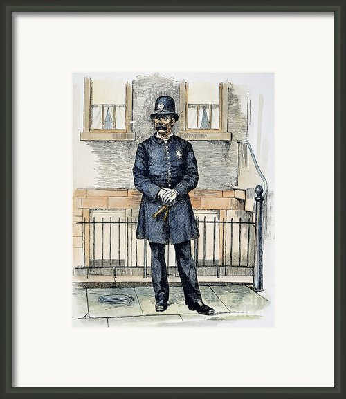 New York City Policeman Framed Print By Granger