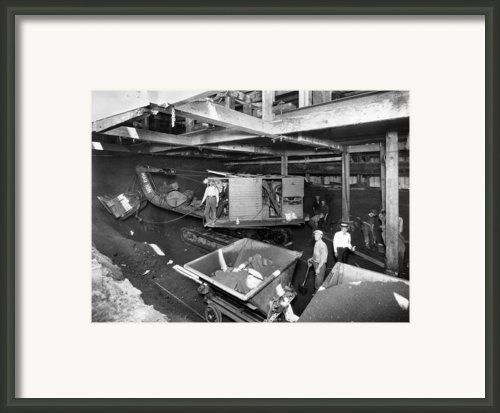 New York City, Workmen In The Tunnels Framed Print By Everett