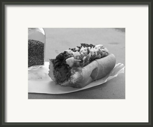 New York Corner Deli Dog Framed Print By Betsy A Cutler East Coast Barrier Islands
