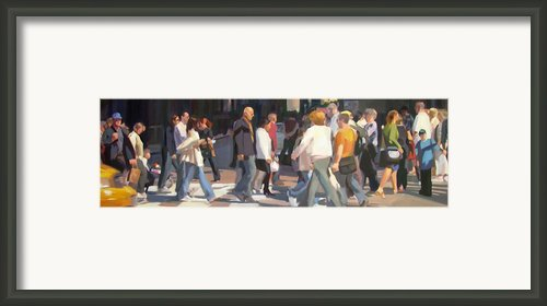 New York Crosswalk Framed Print By Merle Keller
