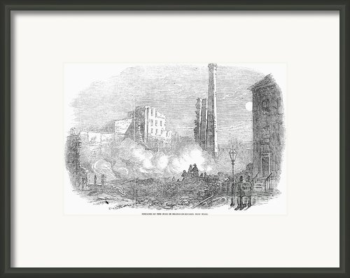 New York: Fire, 1853 Framed Print By Granger