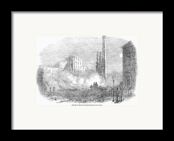 New York: Fire, 1853 Framed Print By Granger