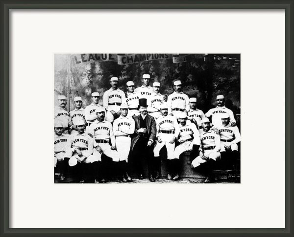 New York Giants, Baseball Team, 1889 Framed Print By Everett