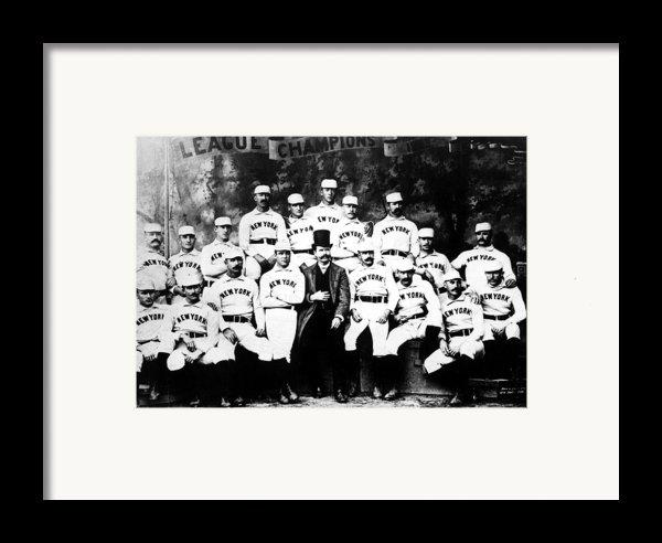 New York Giants, Baseball Team, 1889 Framed Print By Everett