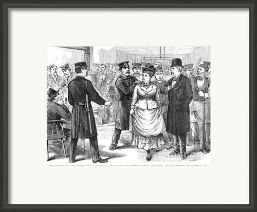 New York Police Raid, 1875 Framed Print By Granger