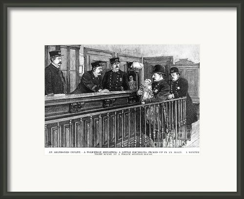 New York: Police Station Framed Print By Granger