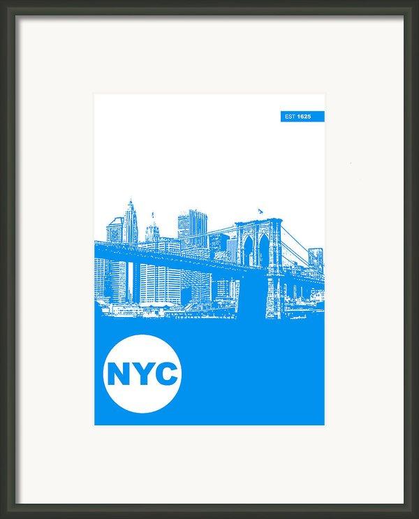 New York Poster Framed Print By Naxart Studio