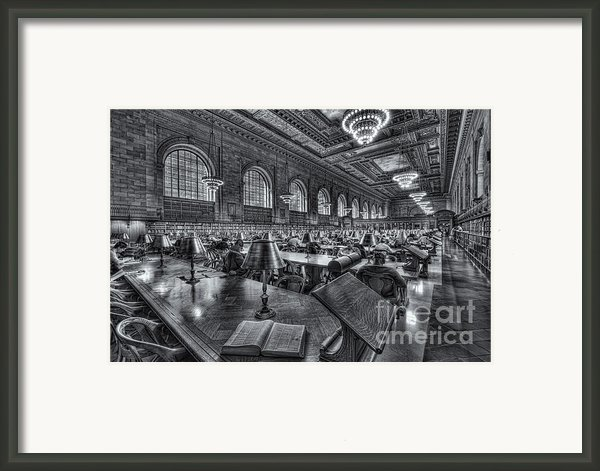 New York Public Library Main Reading Room Vi Framed Print By Clarence Holmes