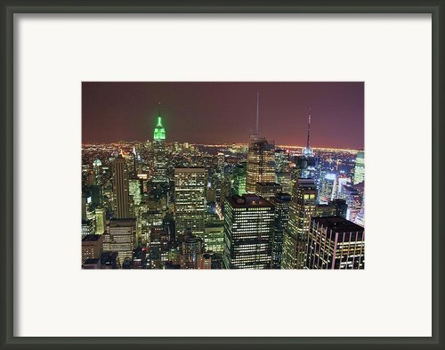 New York Skyline Framed Print By David Gardener