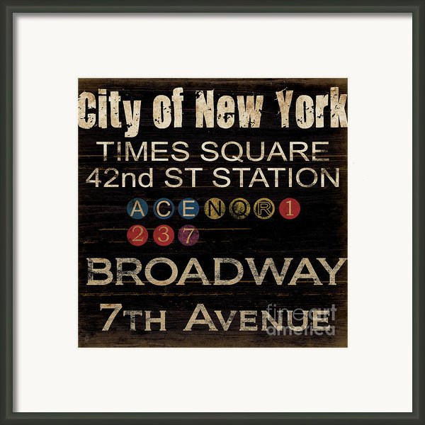New York Subway Framed Print By Grace Pullen