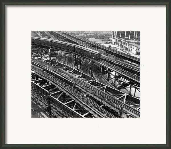 New York Subway Train Tracks Framed Print By Everett