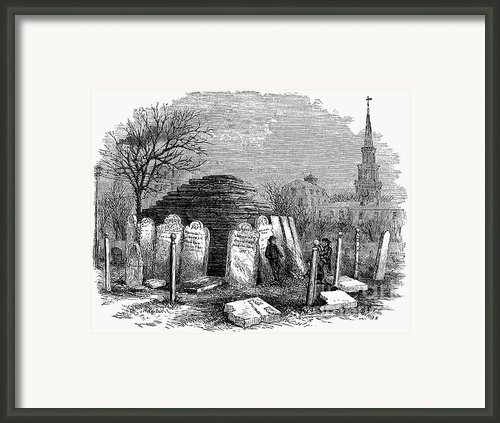 Newark: Cemetery, 1876 Framed Print By Granger