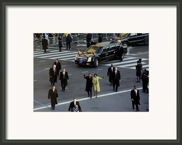 Newly Inaugurated President Framed Print By Everett