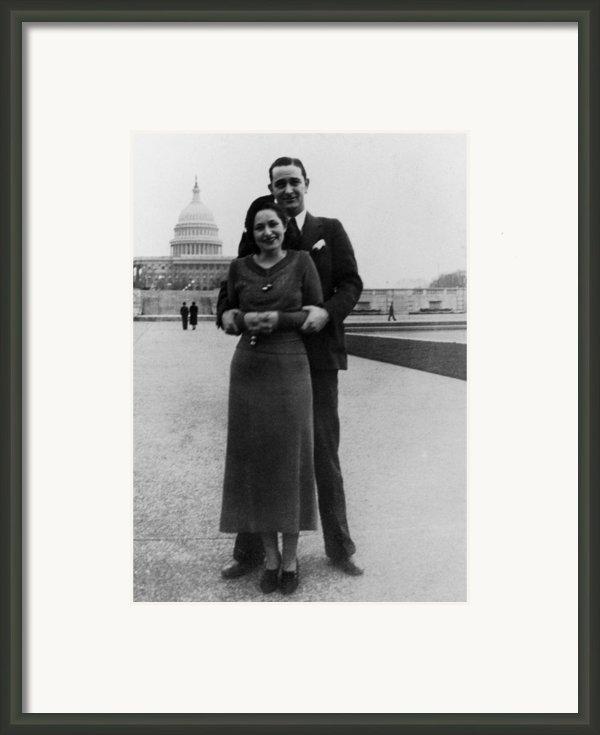 Newlywed Lyndon And Lady Bird Johnson Framed Print By Everett