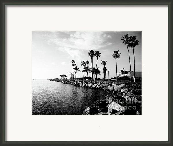 Newport Beach Jetty Framed Print By Paul Velgos
