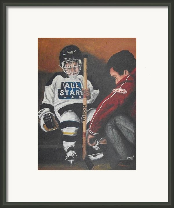 Nice And Tight Framed Print By Ron  Genest