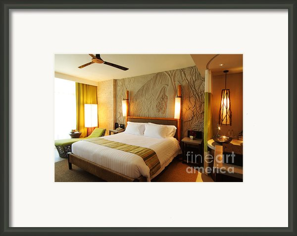 Nice Hotel-room Framed Print By Atiketta Sangasaeng