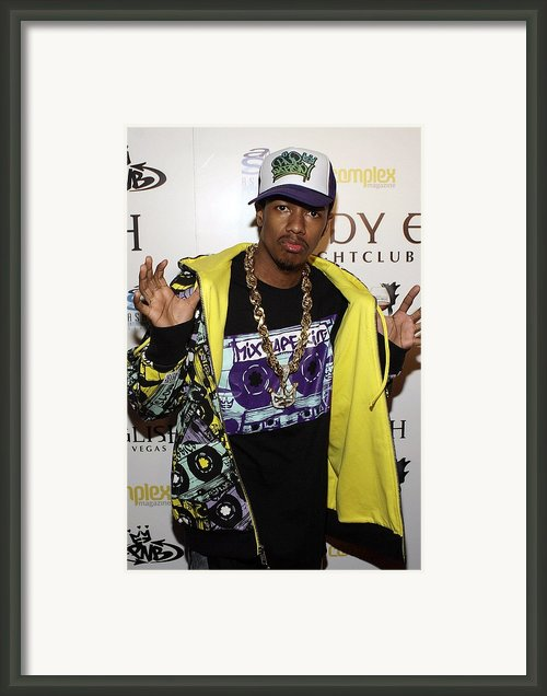 Nick Cannon At Arrivals For Nick Cannon Framed Print By Everett
