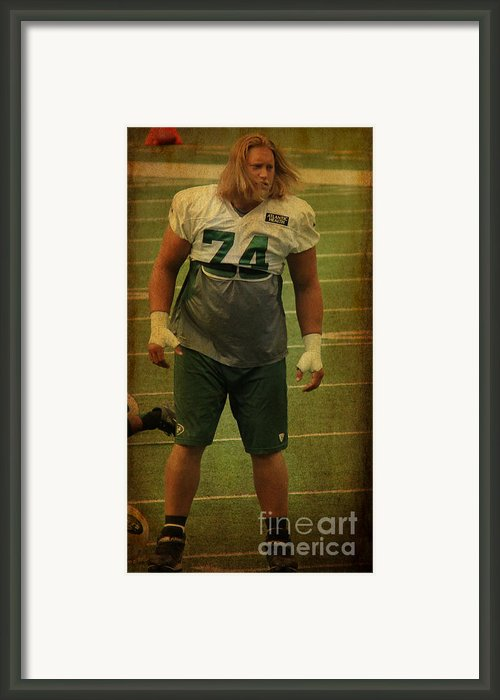 Nick Mangold - The New York Jets Framed Print By Lee Dos Santos