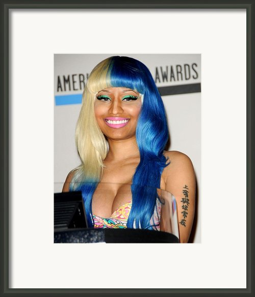 Nicki Minaj At The Press Conference Framed Print By Everett