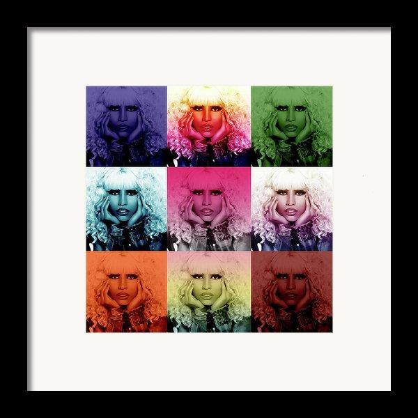 Nicki Minaj By Gbs Framed Print By Anibal Diaz