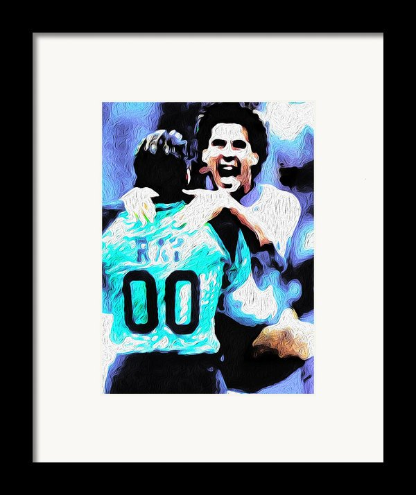 Nicolas Nixo Soccer Framed Print By Nicolas Nixo