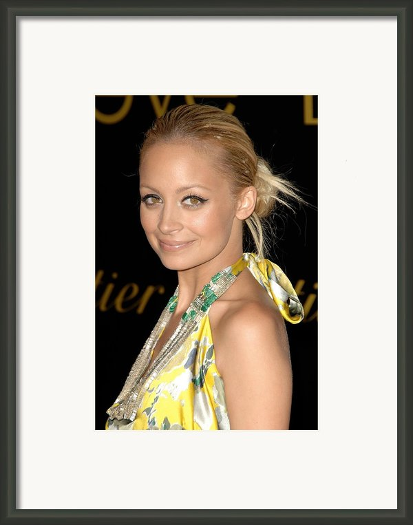 Nicole Richie Wearing A Dries Van Noten Framed Print By Everett