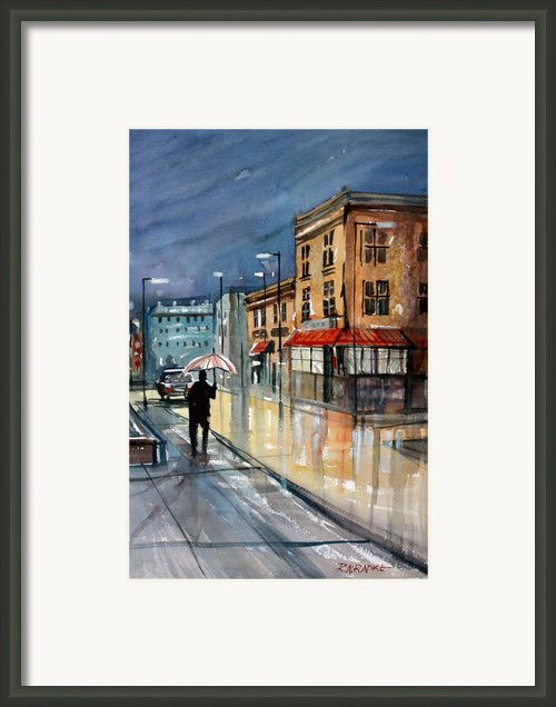 Night Lights Framed Print By Ryan Radke