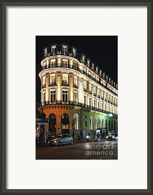 Night Paris Framed Print By Elena Elisseeva