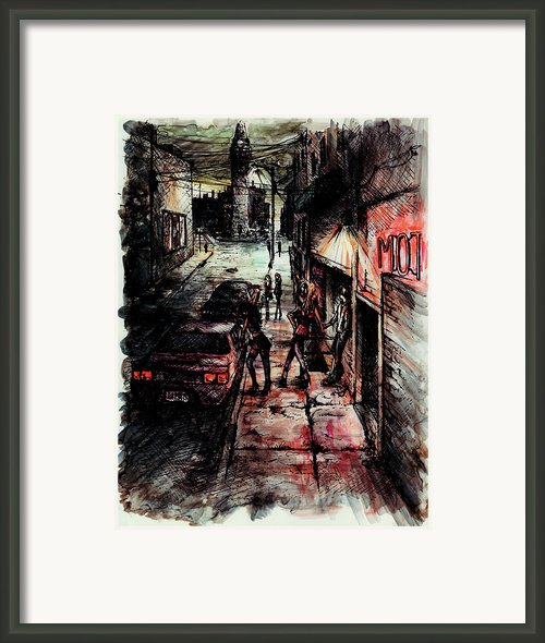 Night Shift Framed Print By Rachel Christine Nowicki