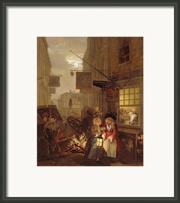Night Framed Print By William Hogarth