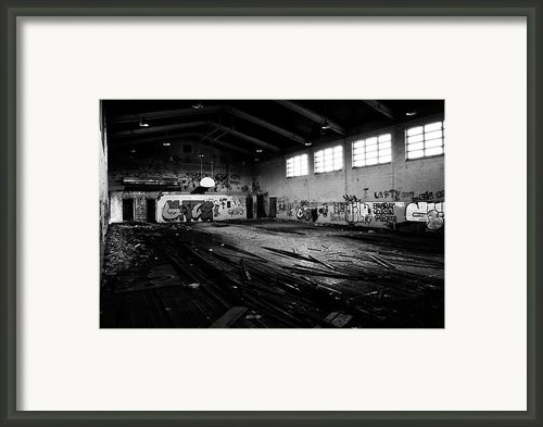 Nike Base Gym Framed Print By Dom Manfredo