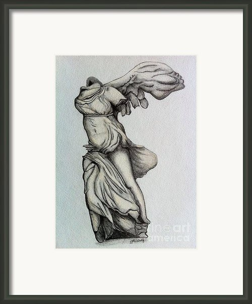 Nike Of Samothrace Framed Print By Shane Whitlock