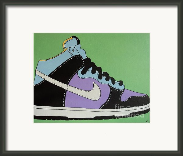 Nike Shoe Framed Print By Grant  Swinney