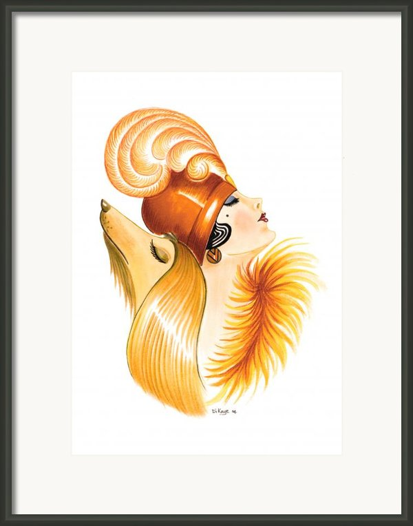 Nina And Frederick Framed Print By Di Kaye