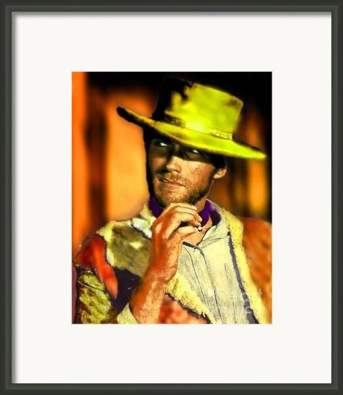Nixo Clint Eastwood Framed Print By Nicholas Nixo
