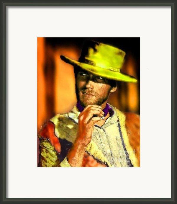 Nixo Clint Eastwood Framed Print By Nicholas Nixo