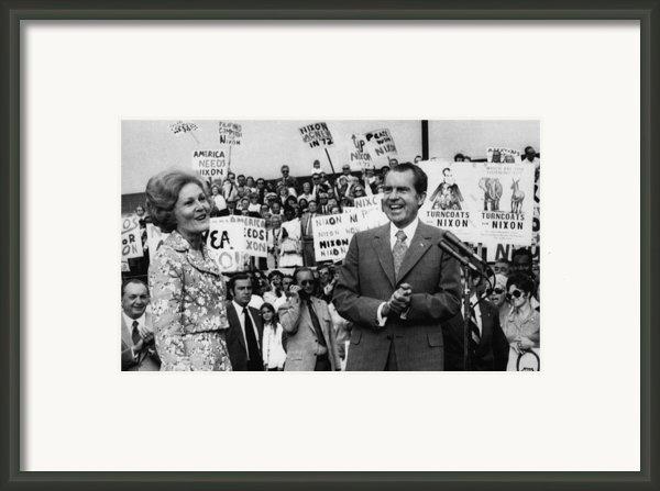 Nixon Presidency.  First Lady Patricia Framed Print By Everett