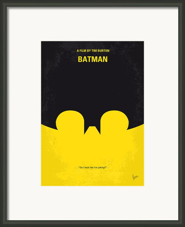 No008 My Batman Minimal Movie Poster Framed Print By Chungkong Art