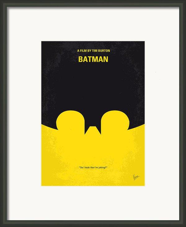 No008 My Batman Minimal Movie Poster Framed Print By Chungkong Art
