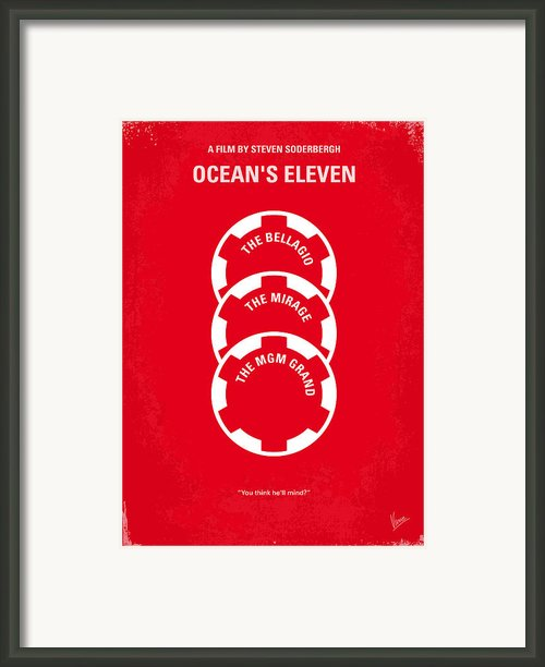No056 My Oceans 11 Minimal Movie Poster Framed Print By Chungkong Art