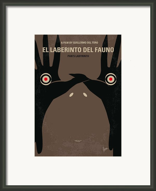 No061 My Pans Labyrinth Minimal Movie Poster Framed Print By Chungkong Art