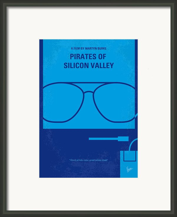 No064 My Pirates Of Silicon Valley Minimal Movie Poster Framed Print By Chungkong Art