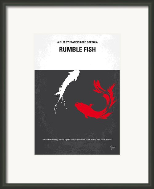 No073 My Rumble Fish Minimal Movie Poster Framed Print By Chungkong Art