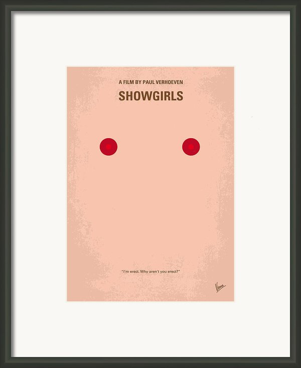 No076 My Showgirls Minimal Movie Poster Framed Print By Chungkong Art