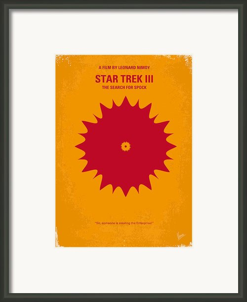 No083 My Star Trek 3 Minimal Movie Poster Framed Print By Chungkong Art