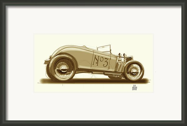 No.3 Framed Print By Jeremy Lacy