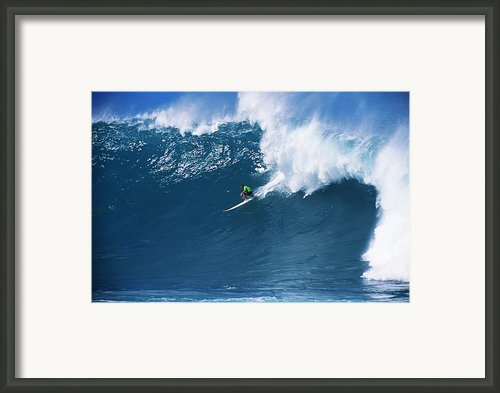 Noah At Waimea Framed Print By Vince Cavataio - Printscapes