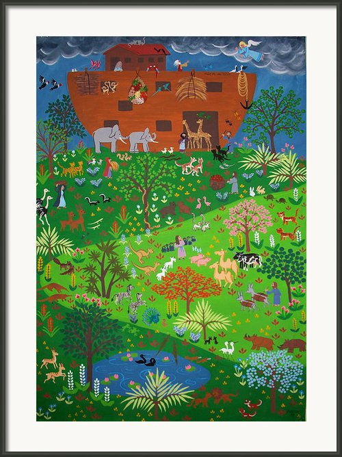 Noahs Ark Framed Print By Isolda Nouel