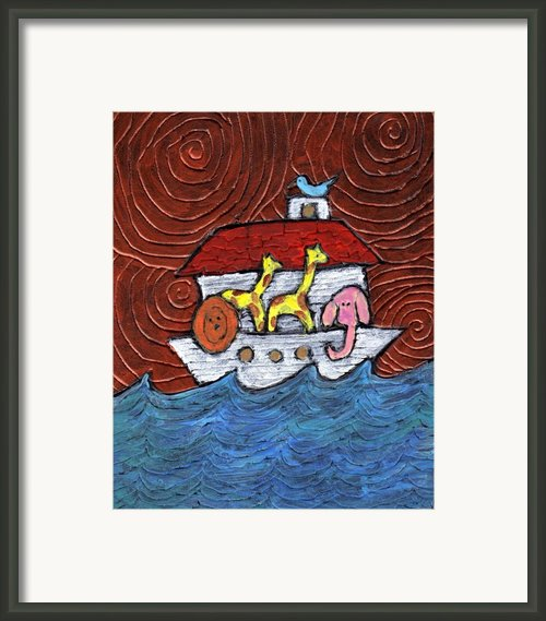 Noahs Ark With Blue Bird Framed Print By Wayne Potrafka